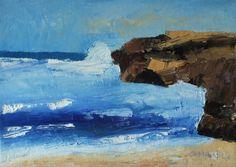 "Little Rock 1 by Marino Chanlatte   $100   14""w x 10""h   Original Art   http://www.vangoart.co/chanlatte/little-rock-1 @VangoArt"