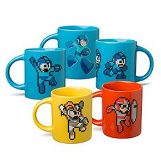 Revisit the nostalgia of classic Mega Man every morning with one of these classic Mega Man character mugs. Or collect the full set, for your next Robot Humanoid Tea Party. Just don't use your blaster guns when fighting over who gets Proto Man!