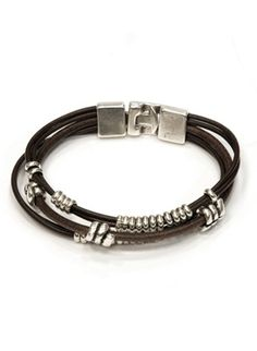 Uno de 50 Brown Leather Bracelet Cuero Para Hombres 1628615e6d2