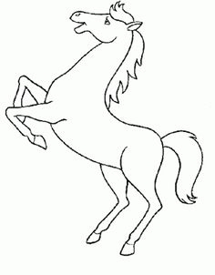 horse coloring pages colorear el dibujo caballo relinchando