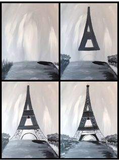 Effiel tower painting with a twist... Might be next diy