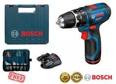 BOSCH GSB10.8-2-Li 10.8V 2Ah Li-Ion 2-Speed Cordless Impact Drill Driver Kit New #Bosch