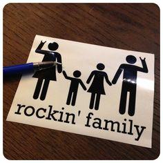 Rockin Family Plotter Silhouette Freebie