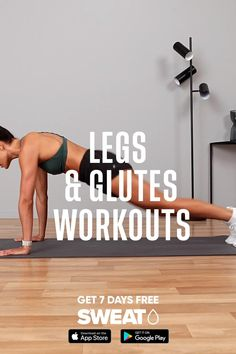 Fitness Workouts, Glute Workouts, Gym Workout Videos, Gym Workout For Beginners, Fitness Workout For Women, Body Fitness, Body Workouts, Leg And Ab Workout, Workout Challenge
