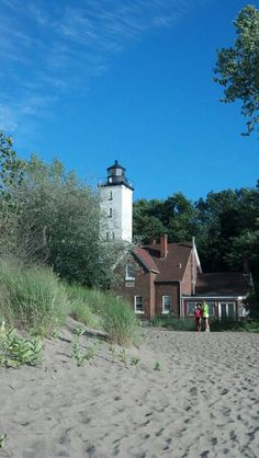 Presque Isle Lighthouse on Lake Erie in Erie PA