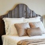 feature diy rustic wood bed and headboard, The Accent Piece on Remodelaholic Diy Headboards, Headboard And Footboard, Headboard Ideas, Handmade Headboards, Country Headboard, Reclaimed Wood Headboard, Weathered Wood, Girls Bedroom, Bedrooms
