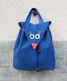 The bird bag bird backpack animal bag women by MariasHappyThoughts