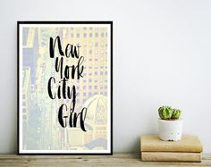 Printable Art New York City Girl Typography by wordsmithprints