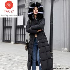 Coat Jacket Long Winter Jacket Women Thick Down Parka Slim Fur Collar Winter Warm Cotton Coat black with fur XXXL Winter Jackets Women, Coats For Women, Ladies Jackets, Ladies Coats, Puffer Jacket With Fur, Long Winter Jacket, Long Parka, Long Jackets, Cowls