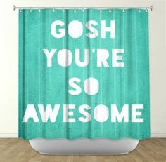 Awesome Shower Curtain - Contemporary - Shower Curtains - DiaNoche Designs