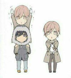 Kurose & Shirotani | Ten Count | Rihito Takarai | Chibi | Calendar Artwork | Manga | Yaoi | Bl | Merch | Lockscreen | Wallpaper | via tumblr