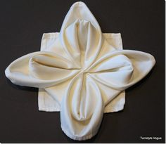 48 best towel decor images on pinterest napkins towels and bath decor how to make a snowflake flower or star napkin fold by turnstyle vogue 16 mightylinksfo