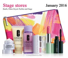 The first bonus time in 2016 is at Stage stores - Jan 5, 2016. Pre-order now: http://clinique-bonus.com/other-us-stores/