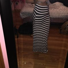 Maxi skirt Long black and white maxi skirt WINDSOR Skirts Maxi