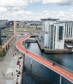 Innovative bicycle bridge. Copenhagen, Denmark. Further inspiration about bicycle friendly cities: https://www.teacherspayteachers.com/Product/Bicycle-friendly-cities-1475308