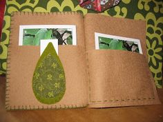 Cloth/felt nomenclature envelopes like these could hold the card materials for the altar nomenclature.