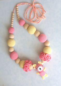 Nursing necklace amigurumi bear Breastfeeding от ForeverValues