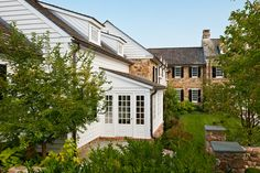 Peter Zimmerman Architects, New House, Wayne, PA Stone Exterior Houses, Dream House Exterior, Stone Houses, Dream Home Design, My Dream Home, House Design, Dream Homes, Stone Farms, Atrium House