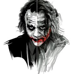 The Joker (Black/Red Edition) by Timo Schlosser & Nadja Schüller-Ost X print, S/N edition of Available to pre-order, HERE. Joker Dark Knight, Arkham Knight, Joker Arkham, Heath Joker, Photos Joker, Joker Images, Jasper Johns, Roy Lichtenstein, Andy Warhol