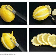 Try this cool trick for lemon garnishes in your next Lemonade VitaFrute cocktail!