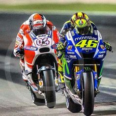 1st and 2nd. Yamaha and Ducati