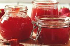 Strawberry and Rosewater Glitter Jam #jam #jammaking