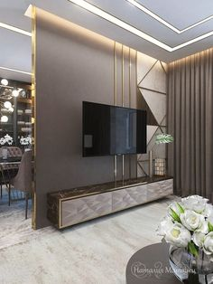 7 Versatile Tips AND Tricks: False Ceiling Design For Restaurant false ceiling kitchen hoods.L Shaped False Ceiling Design false ceiling office conference room. Tv Wall Design, Ceiling Design, House Design, Ceiling Ideas, Tv Console Design, Lcd Unit Design, Ceiling Lighting, Bedroom Lighting, Tv Wanddekor