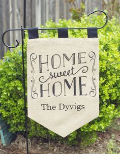 Personalized Burlap Garden Flags- 3 Options | Jane