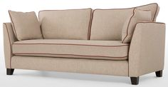 Wolseley 3 Seater Sofa in fawn beige | made.com