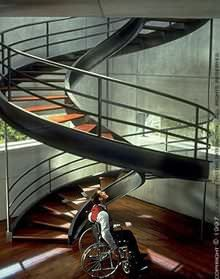 the Life is like stairs. and this stairs look like ADN.