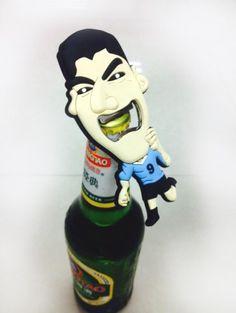 The Suarez bottle opener. Lisa Suarez bites again.