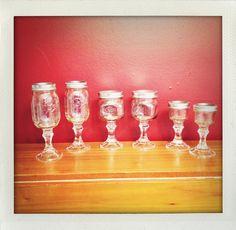 Redneck Beverage Collection, Wine Glasses, Margarita Glasses, Shot Glasses.