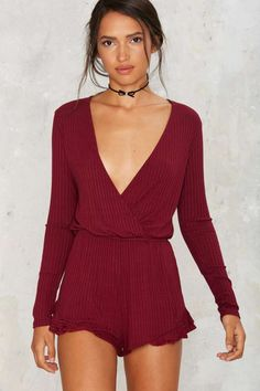 Take a Wrap Ribbed Romper | Shop Clothes at Nasty Gal!