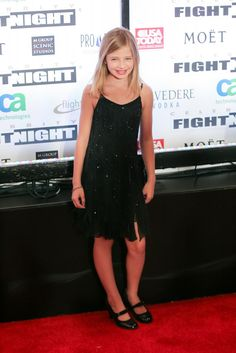 Jackie Evancho on the red carpet at Fight Night