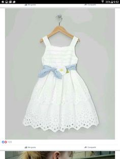 a look at this White Daisy Tie Dress - Toddler & Girls by Bloome on today!Take a look at this White Daisy Tie Dress - Toddler & Girls by Bloome on today! Fashion Kids, Little Girl Fashion, Toddler Girl Dresses, Toddler Outfits, Kids Outfits, Toddler Girls, Little Girl Dresses, Girls Dresses, Flower Girl Dresses