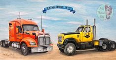 Truck Art, Big Trucks, Vehicles, Big Rig Trucks, Vehicle