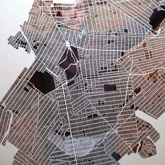 Handcut New York City Map by Karen O'Leary [Design + NYC]