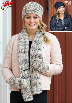 Knit cozy accessories with our brand new yarn Inez.