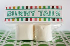 Bunny Tails Easter Favors with Guests Eighteen25 - The Idea Room