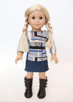 American Girl Doll outfit 3/4 length t shirt by EverydayDollwear, $18.00