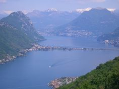 Lake of Lugano one of the most beautiful lakes in Switzerland