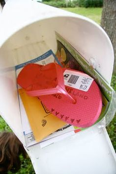 Can you actually mail a flip-flop? Would make a great invite for a summer party
