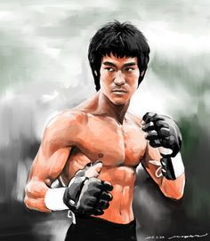 Bruce Lee in Enter the Dragon by darkdamage.deviantart.com on @deviantART