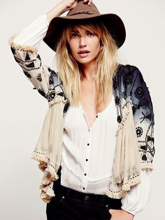 Free People Top Down Embellished Jacket, $398.00