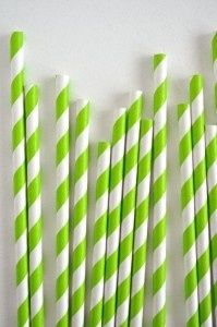 Color Verde Lima - Lime Green!!! Straws