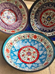 Hand-painted Turkish Ceramic Bowl, Unique gift bowl | Odyssey Imports Turkish Plates, Turkish Tiles, Turkish Art, Ceramic Painting, Ceramic Art, Ceramic Bowls, Ceramic Pottery, Rustic Dinnerware, Middle Eastern Art