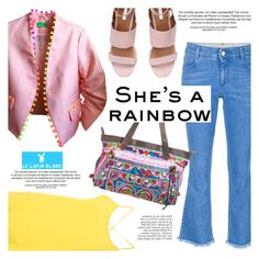 """""""She's a rainbow!"""" by helenevlacho ❤ liked on Polyvore featuring STELLA McCARTNEY, Christian Wijnants, Anja and lelapinblanc"""