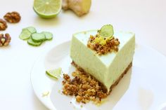Cucumber Cheesecake Easy Food To Make, Light Recipes, Cucumber, Cheesecake, Baking, Healthy, Sweet, Desserts, Skinny Recipes
