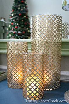 Radiator sheet metal candle wraps, from Thrifty Decor Chick
