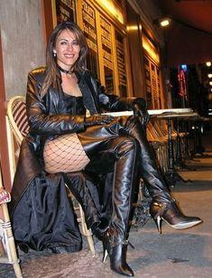 Liz Hurley unleashes her Leather Fetish